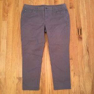 Simply Vera Vera Wang purple skinny ankle jeans 16